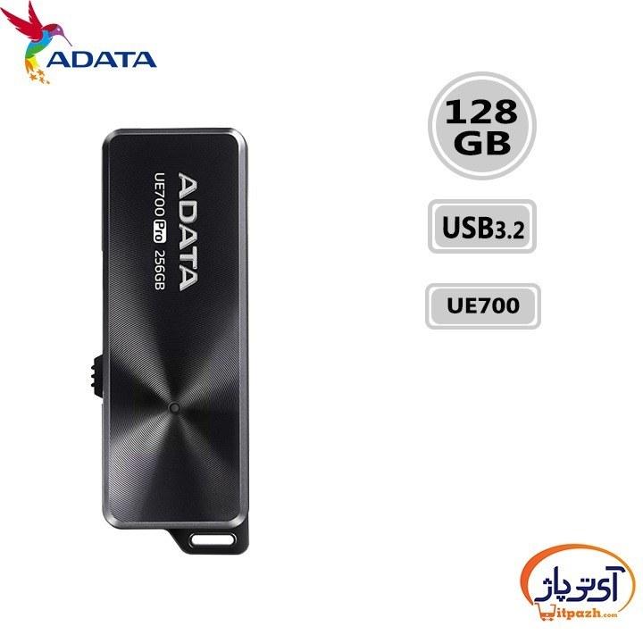 تصویر فلش مموری ای دیتا مدل UE700 Pro USB3.2 ظرفیت 128 گیگابایت ADATA UE700 Pro USB3.2 Flash Memory -128GB