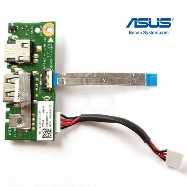 برد پاور و USB لپ تاپ ASUS مدل X501 | ASUS X501 DC Power Jack USB Board