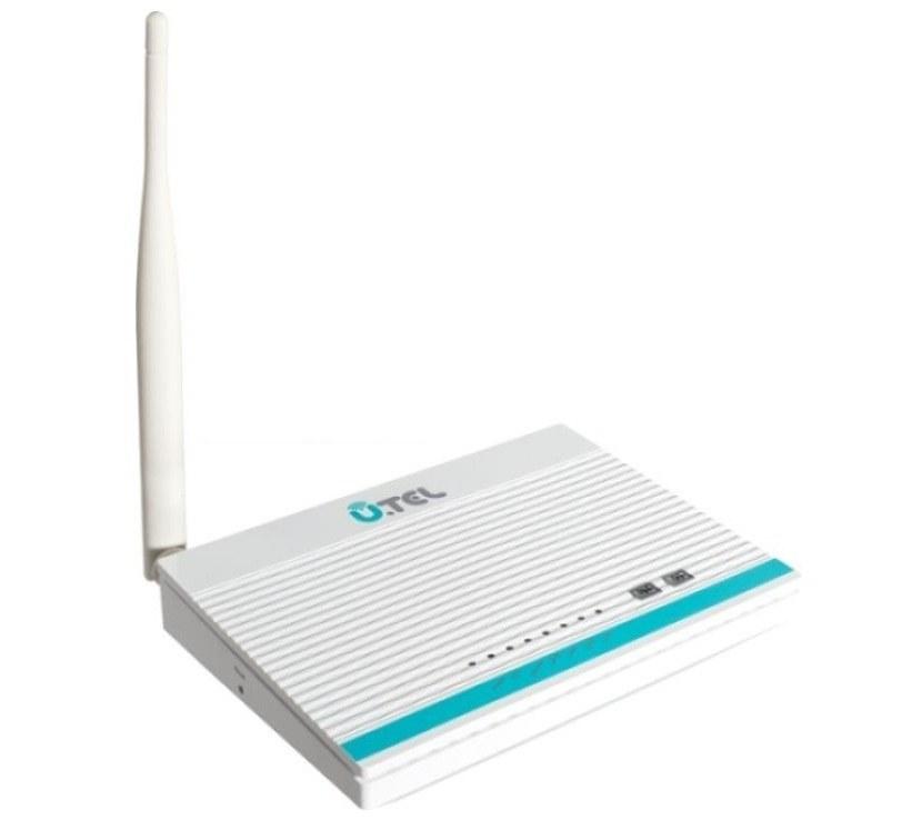 تصویر مودم+ADSL2 بیسیم یوتل A154 UTEL A154 Wireless N150Mbps ADSL2+ 4 Port Modem Router