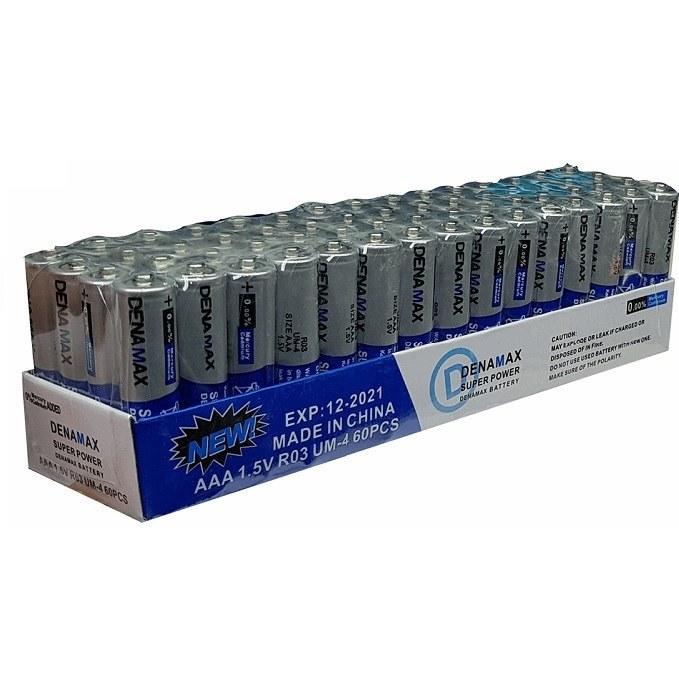 باتری نیم قلمی اور مکس مدل Super Power بسته 60 عددی |