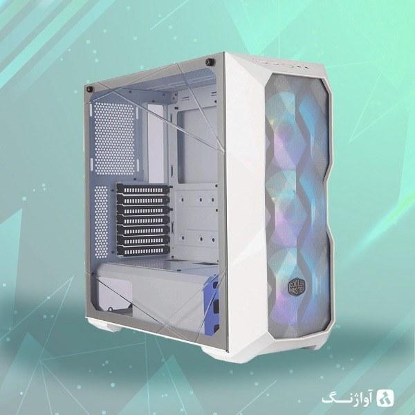 تصویر کیس اسمبل شده کولر مستر مدل TD500 White / X570 UD - R5 3600 - 1660 Super | آواژنگ