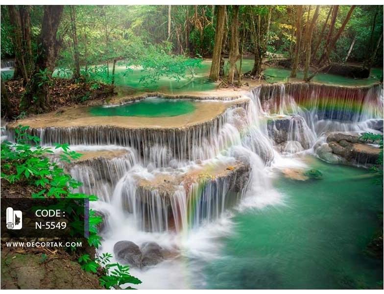 تصویر پوستر دیواری سه بعدی آبشار کد N-5549