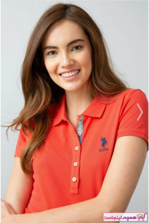 تصویر پولوشرت زنانه نخ پنبه مارک U.S. Polo Assn.برند US Polo رنگ صورتی ty86143141