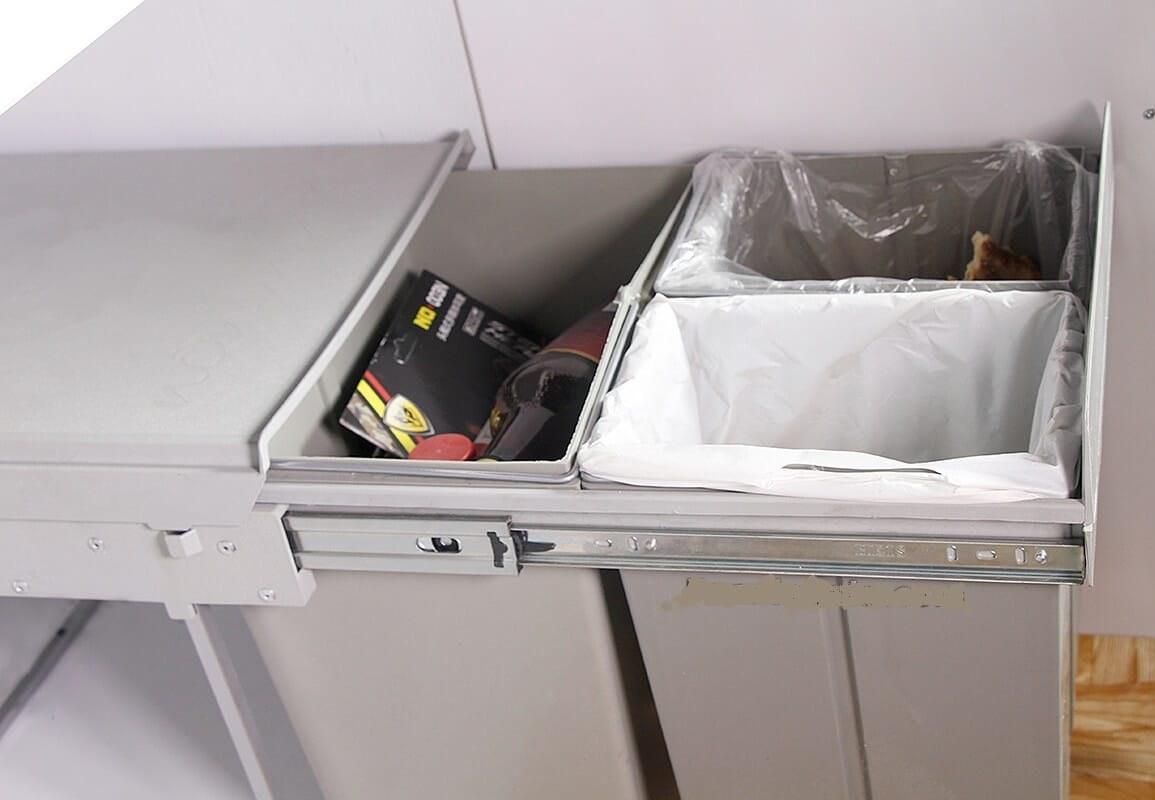 سطل آشغال کابینتی ۳ مخزنه سیمتال