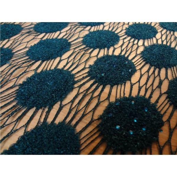 پارچه لباسی هریس گیپور پولکی طرح جدید کد 1010 |