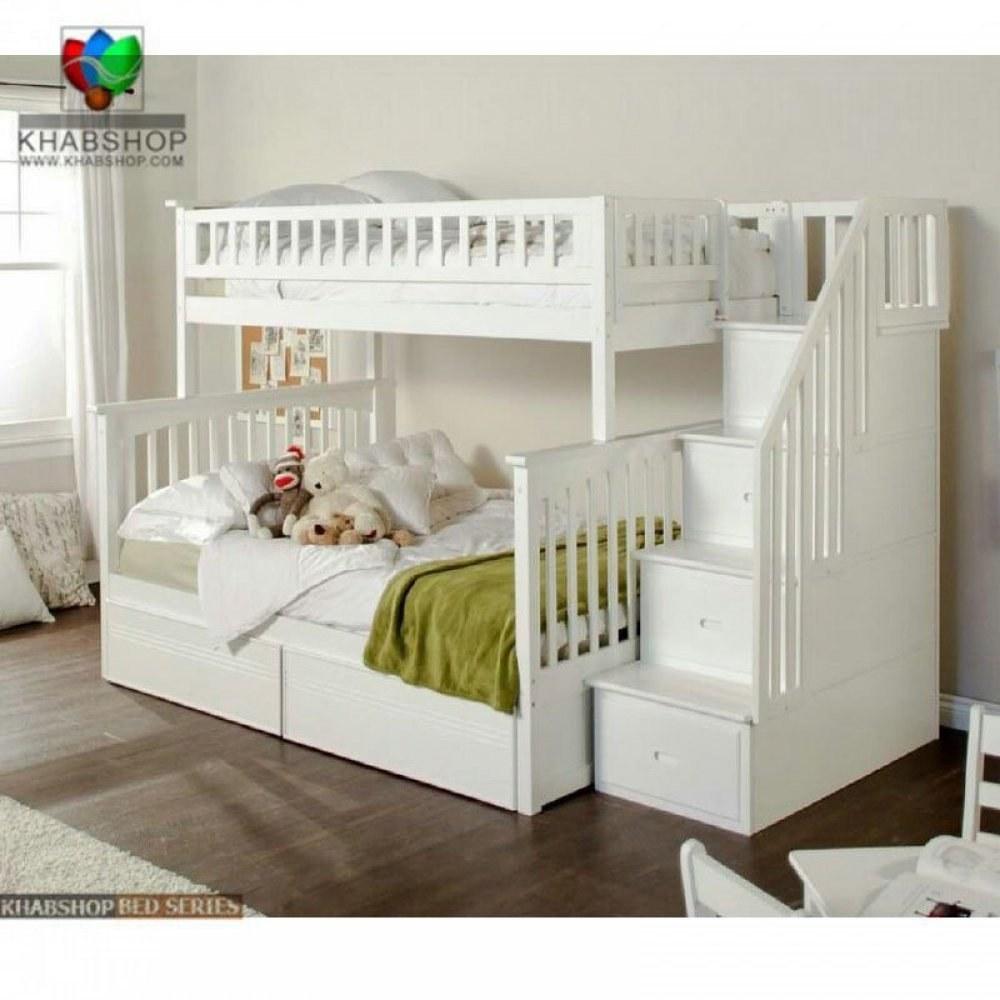 تخت خواب نوجوان دو طبقه مدل رانر |