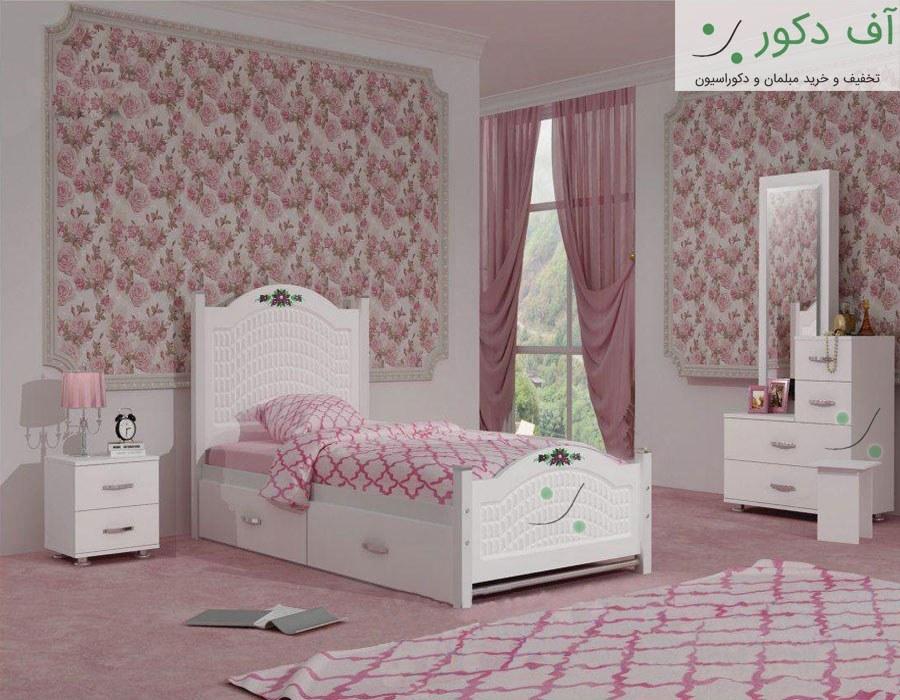 عکس تخت خواب یک نفره دخترانه رکسانا  تخت-خواب-یک-نفره-دخترانه-رکسانا