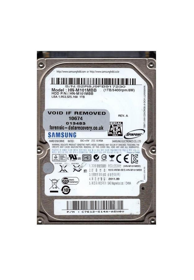 تصویر هارد دیسک لپ تاپ سامسونگ با ظرفیت ۱ ترابایت SAMSUNG 1TB-HN-M101MBB