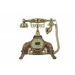 تصویر تلفن رومیزی سلطنتی آرنوس طلایی مدل 040