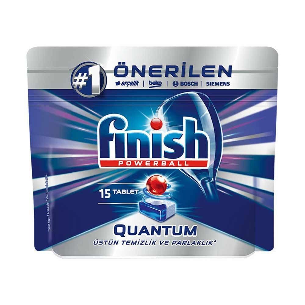 تصویر قرص ماشین ظرفشویی فینیش مدل کوانتوم بسته 15عددی Finish Quantum Dishwasher Tablets Pack Of 15