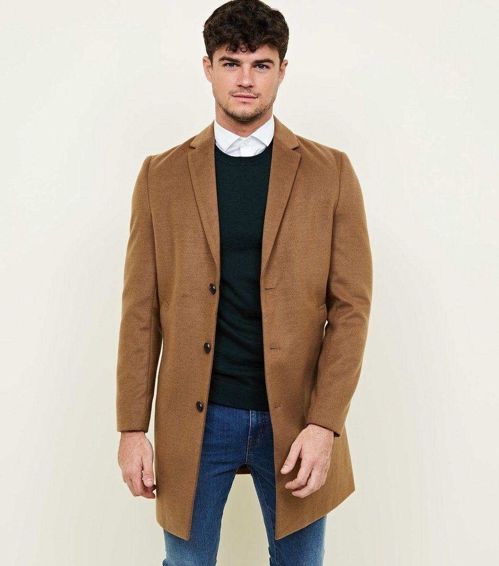 تصویر مردانه - پالتو مردانه نیولوک (انگلستان) Camel Overcoat