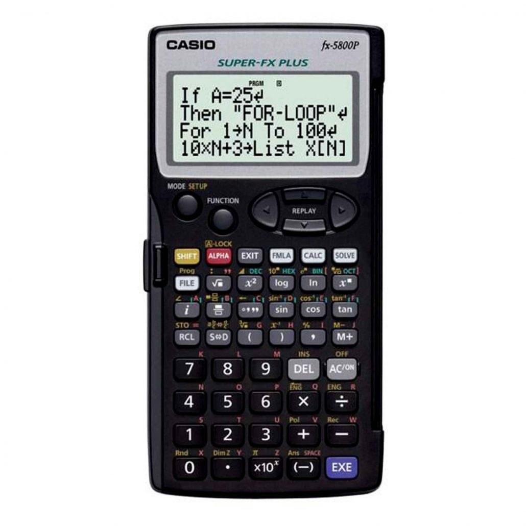 تصویر ماشین حساب CASIO 5800
