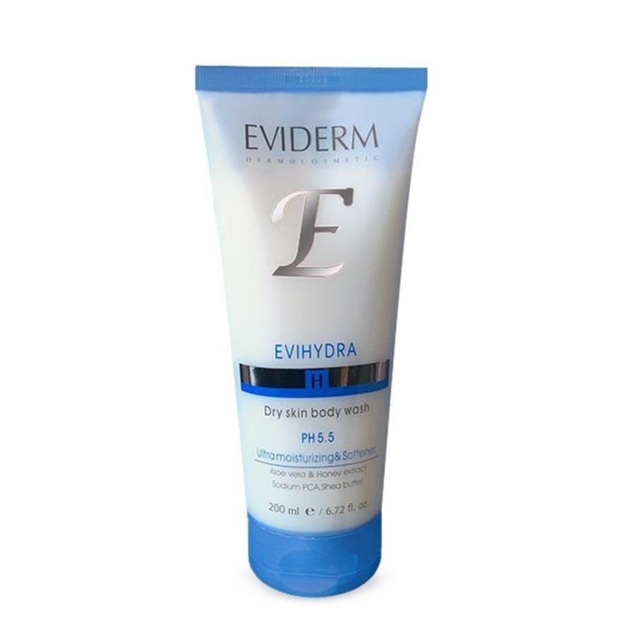 تصویر شامپو بدن مناسب پوست های خشک اوی هیدرا اویدرم Eviderm Evihydra Dry Skin Body Wash