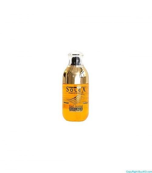 تصویر اکسیر مراقبت از مو سولکس حاوی روغن آرگان و کراتین Solex hair care elixir contains argan oil and creatine