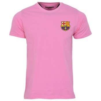 تیشرت ورزشی مردانه طرح بارسلونا مدل 12A رنگ صورتی  