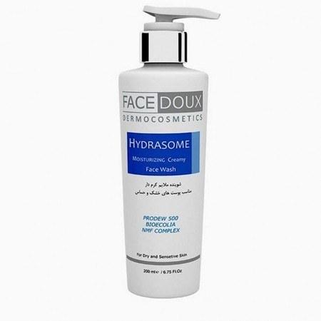 تصویر شوینده صورت هیدرازوم فیس دوکس حجم 200 ml Hydrasome Moisturizing Creamy Face Wash