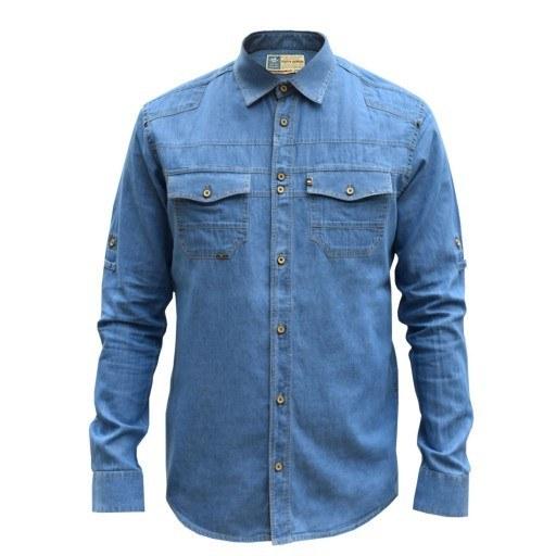 main images پیراهن جین مردانه اسپرت قواره اسلیم کد 4017179 (پایتی جامه)