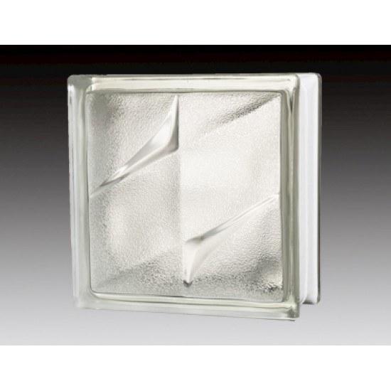 تصویر بلوک شیشه ای کاوه مدل دبل استار برفی ( دو ستاره )