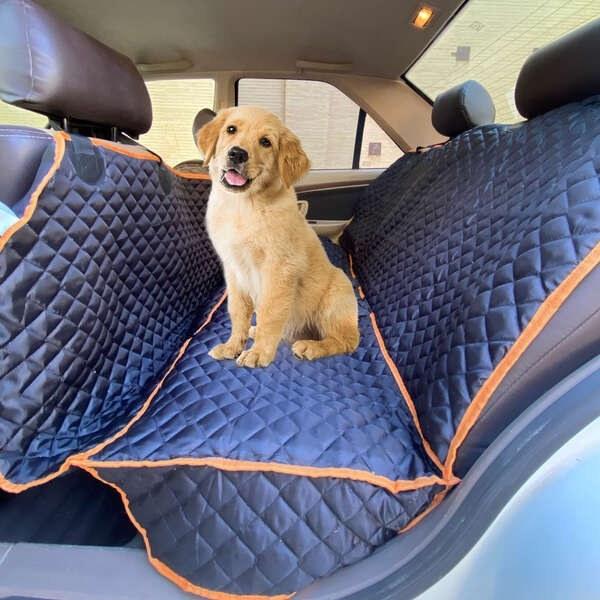 تصویر کاور صندلی ماشین سگ و گربه