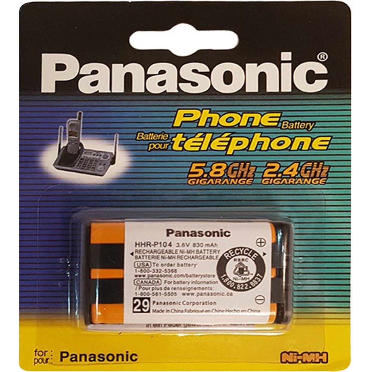 تصویر باتری تلفن بی سیم قابل شارژ پاناسونیک مدل HHR-P104 Panasonic HHR-P104 Cordless Phone Rechargeable Battery