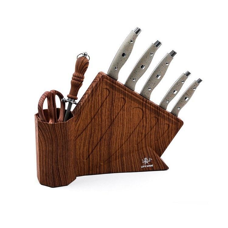 تصویر سرویس چاقو آشپزخانه لایف اسمایل مدل NSEL 1 LIFE SMILE NSEL-1 Stainless Steel Knife Set