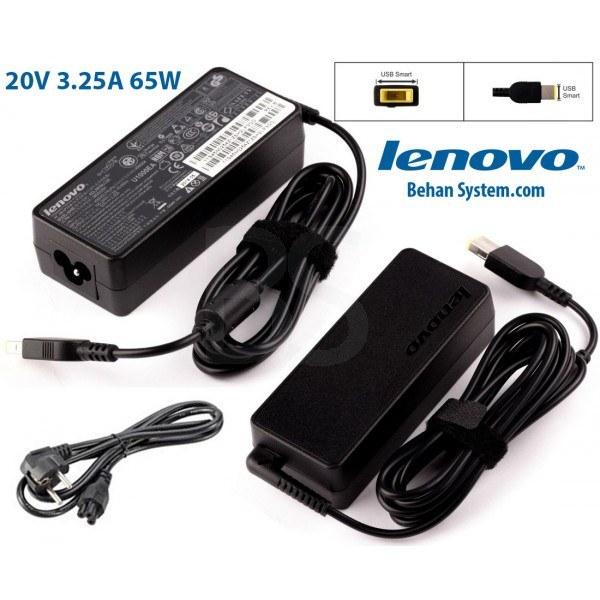 تصویر شارژر لپ تاپ لنوو 20V 3.25A - سوکت USB Lenovo (USB) 20V 3.25A