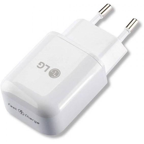 تصویر آداپتور اصلی شارژ سریع ال جی LG original fast charging adapter