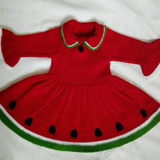 عکس لباس هندوانه بافتنی  لباس-هندوانه-بافتنی