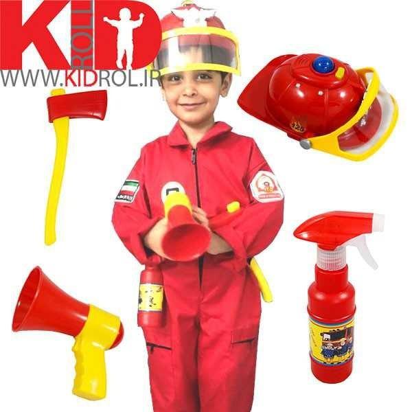 تصویر لباس آتش نشانی بچه گانه