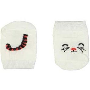 جوراب نوزادی طرح گربه |
