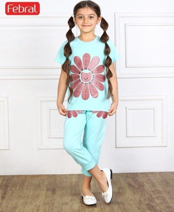 ست تی شرت و شلوار دخترانه مادر مدل سانی – بنتون