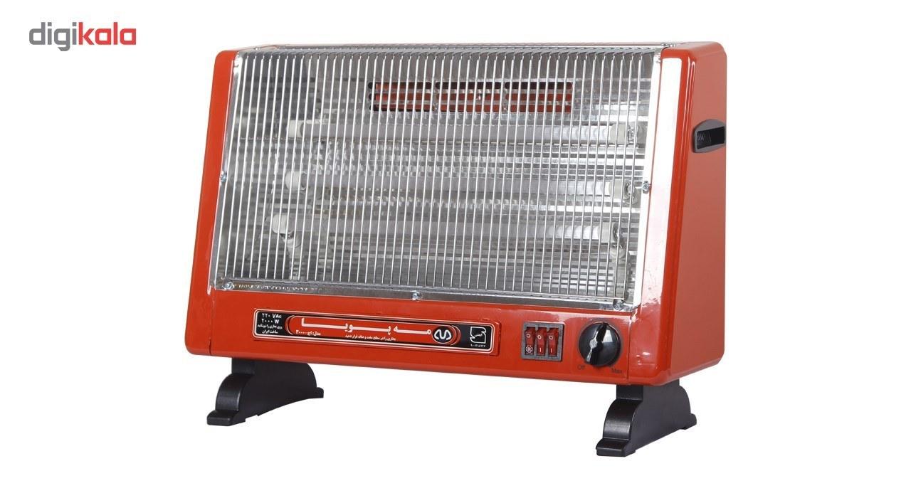 عکس بخاری برقی فن دارالمنت شیشه ای مه پویا مدل H-3000 Mahpooya H-3000 glass element Fan Heater بخاری-برقی-فن-دارالمنت-شیشه-ای-مه-پویا-مدل-h-3000 1