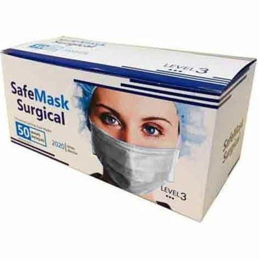 ماسک تنفسی دوردوخت میله دار بسته 50 عددی