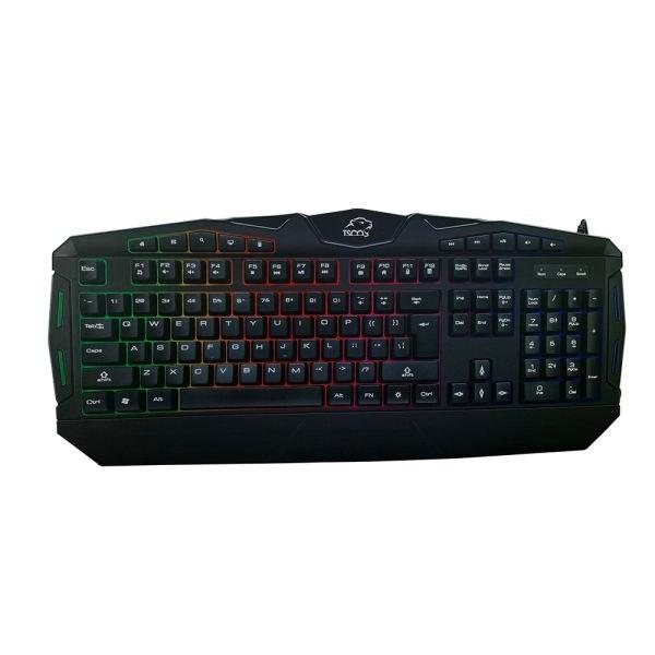 تصویر کیبورد USB گیمینگ LED تسکو مدل TK-8117L ا TSCO TK-8117L Wired Gaming Keyboard TSCO TK-8117L Wired Gaming Keyboard