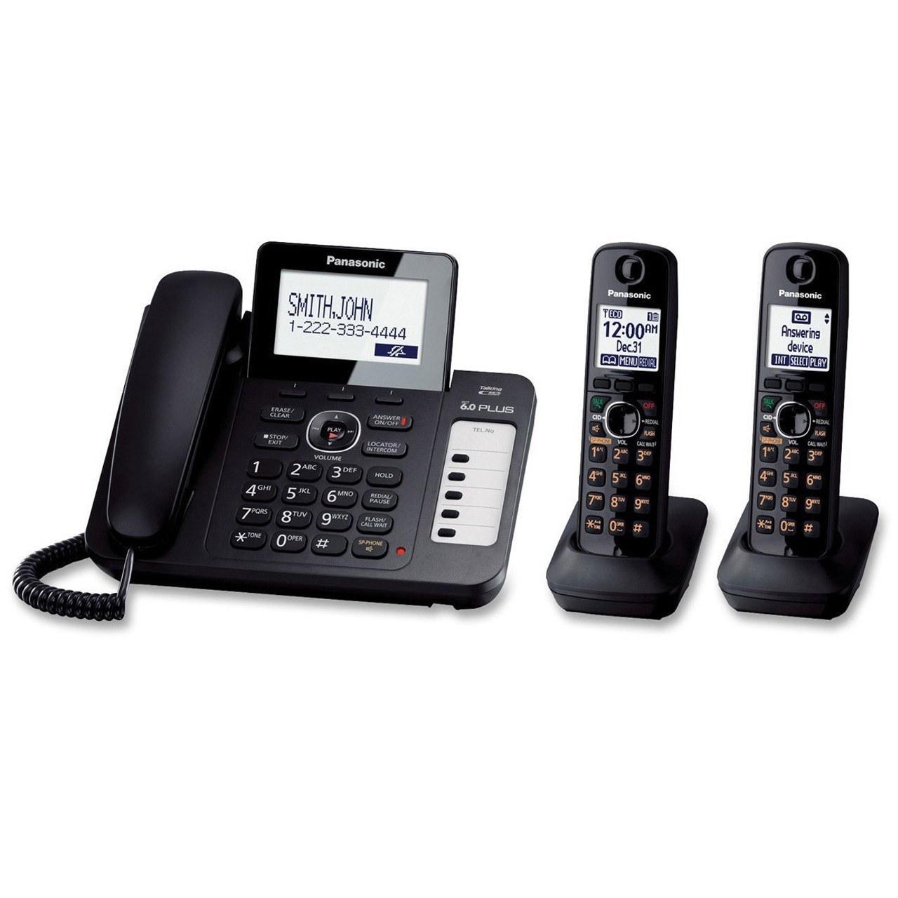 تصویر تلفن بی سیم پاناسونیک مدل KX-TG6672 (مدل KX-TG6671 با یک گوشی بیسیم اضافه)