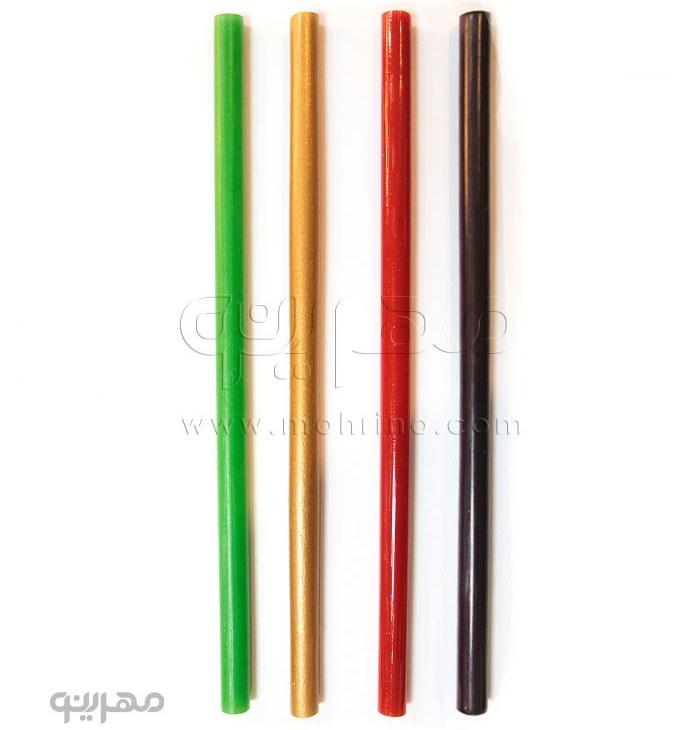 تصویر چسب حرارتی رنگی بسته 10 عددی