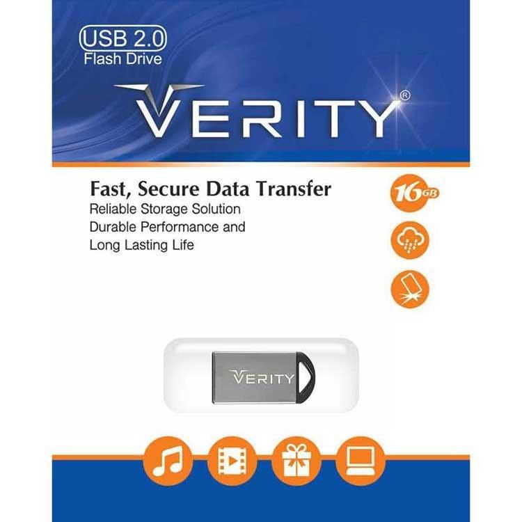 تصویر فلش مموری وریتی مدل V804 ظرفیت 16 گیگابایت Verity V804 Flash Memory - 16GB
