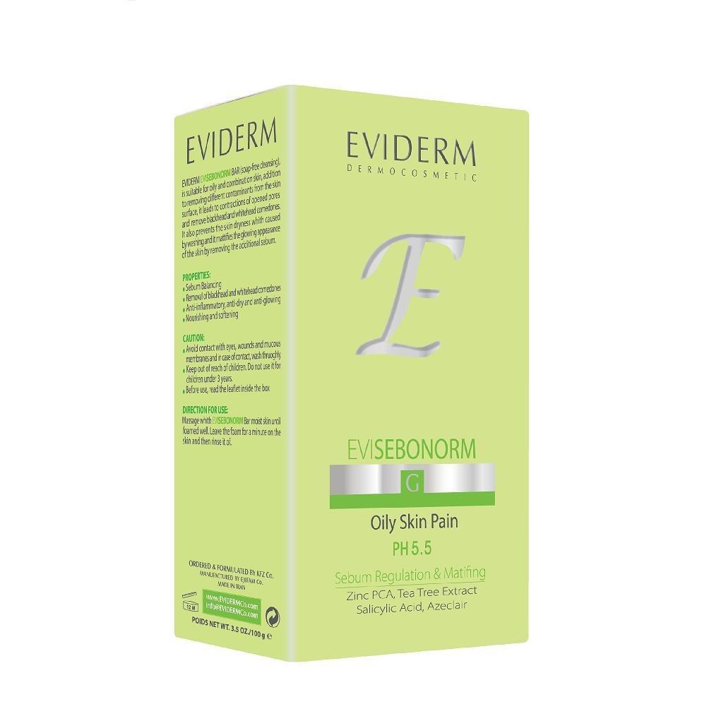 تصویر پن پوست چرب اوی سبونورم اویدرم 100 گرم Eviderm EVISEBONORM Oily Skin Pain 100gr