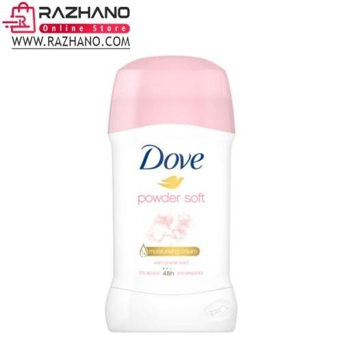 مام صابونی داو صورتی مدل Dove powder soft