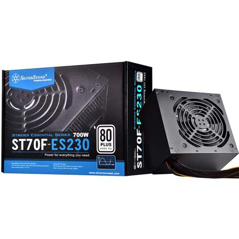 تصویر منبع تغذیه کامپیوتر سیلور استون SST-ST70F-ES230 SilverStone Strider Essential Series SST-ST70F-ES230 ATX PC Power Supply