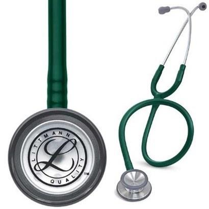 تصویر گوشی معاینه پزشکی لیتمن کلاسیک دو مدل سبز2208  LITTMANN CLASSIC II