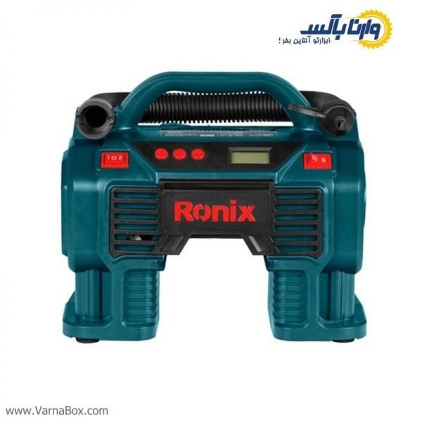 تصویر مینی کمپرسور سه کاره فندکی رونیکس RH-4260B Ronix RH-4260 Cigar Lighter Air Compressor