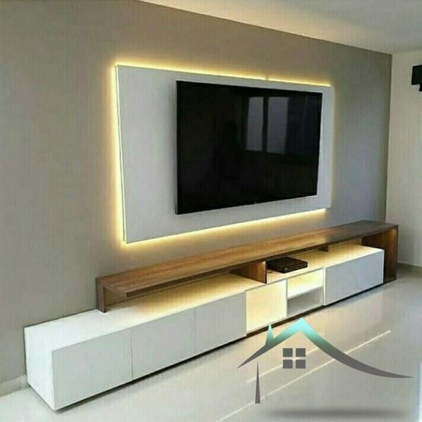 تصویر باکس میز تلویزیون دیواری
