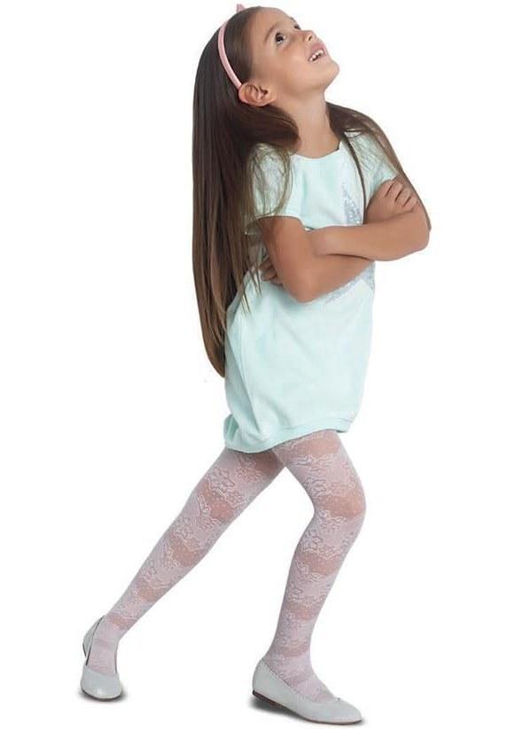 جوراب شلواری طرحدار دخترانه پنتی Meri وانیلی  
