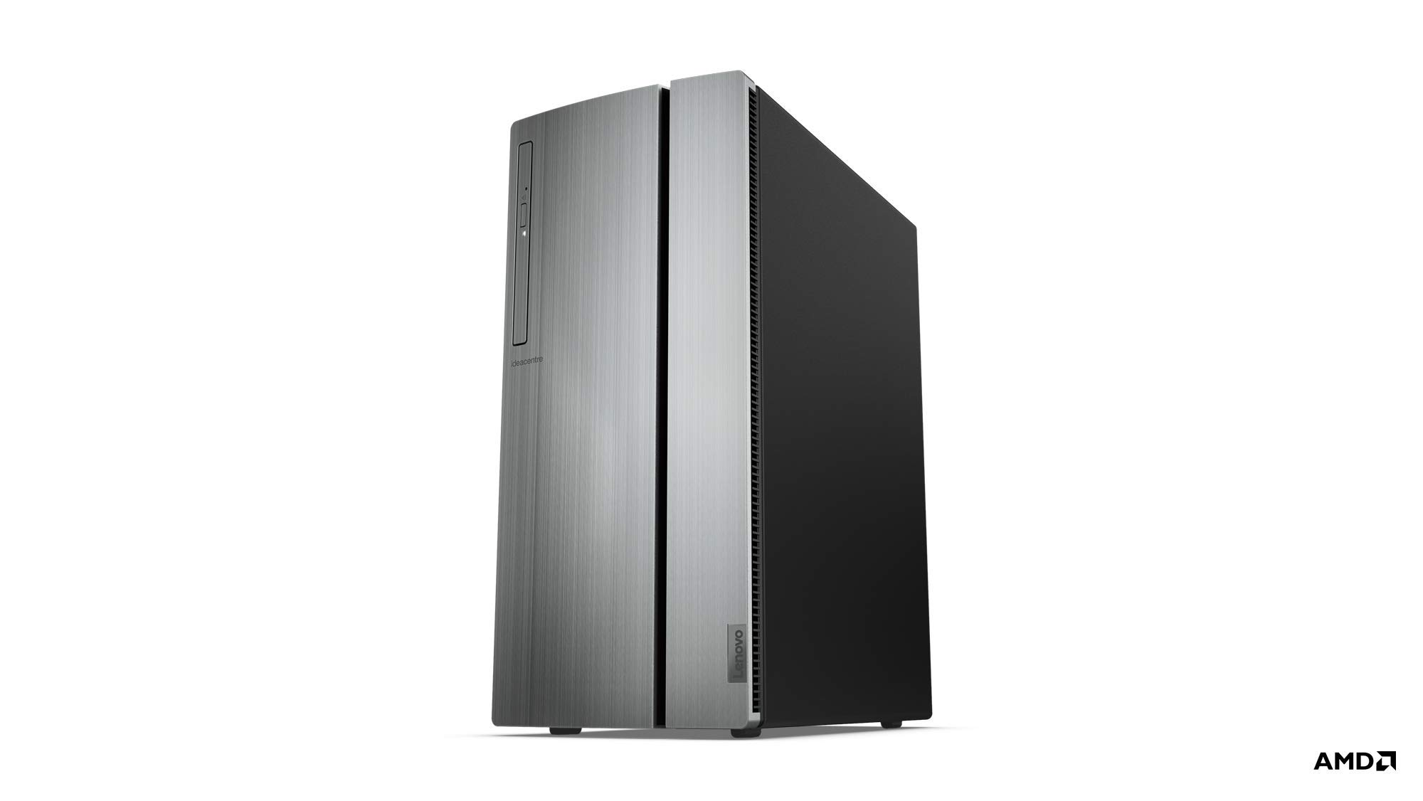 تصویر برج Lenovo IdeaCentre 720 Tower ، رایانه رومیزی 18L (پردازنده Ryzen 5 2600 ، 12 Dual Channel DDR4 ، 2TB ، AMD Radeon RX 560 Graphics ، ویندوز 10 صفحه اصلی) ، 90HY0007US ، گرم نقره