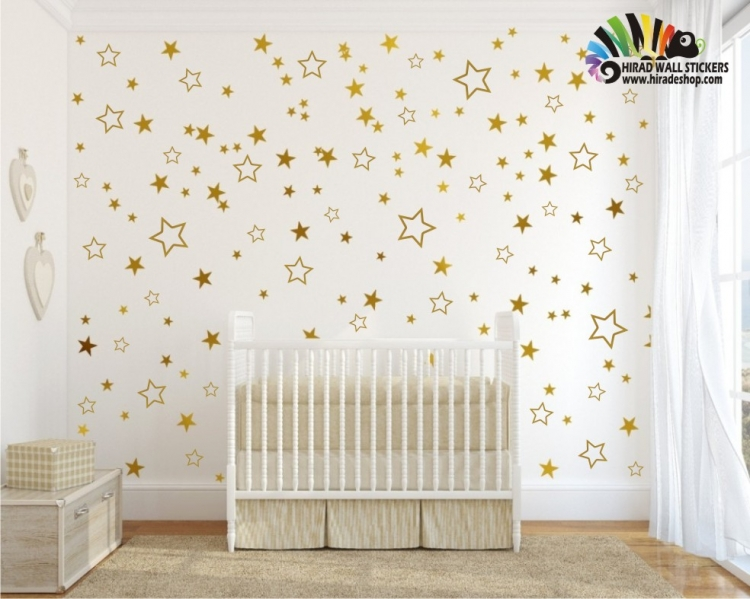 استیکر ستاره اتاق کودک star wallstickers کد h431