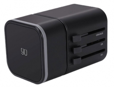 تصویر آداپتور دو پورت و مبدل برق چند شاخه شیائومی Xiaomi 90 RM-302PD GOFUN Multifunctional Adapter