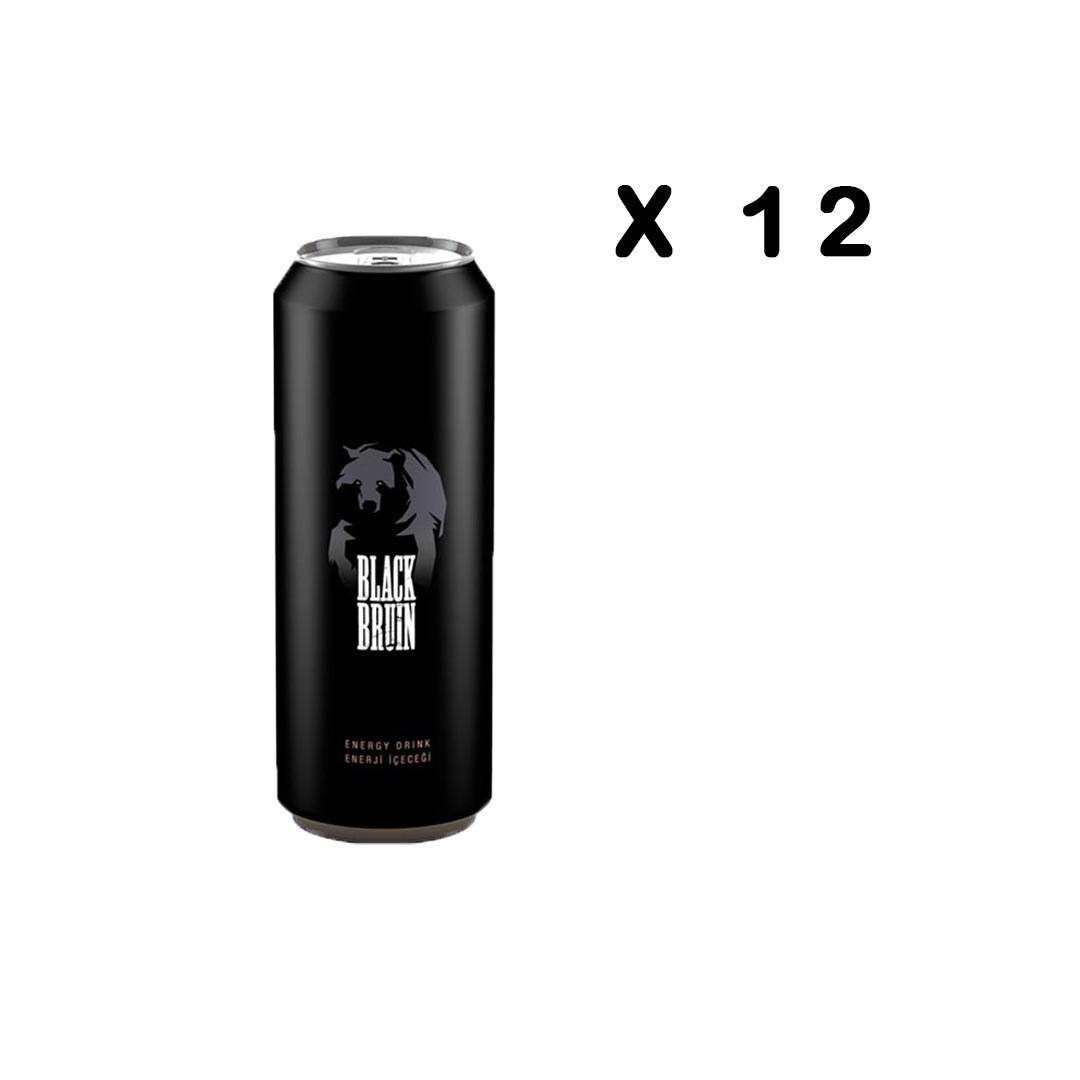 تصویر نوشیدنی انرژی زا بلک برن Black Bruin حجم 500 میل باکس 12 عددی