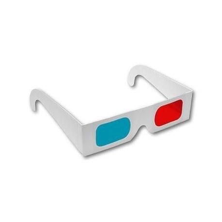 تصویر عينک ۳ بعدی آناگليف قرمز/ آبی-سبز مقوایی رينبو
