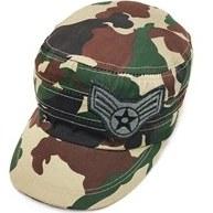 تصویر کلاه کپ مردانه طرح ارتشی کرم